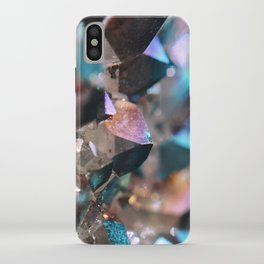 Turquoise & Violet Aura Crystals iPhone Case