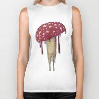 mushroom Biker Tanks featuring Mushroom by Lime