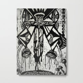 dripping Metal Print