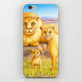 Lion, Lioness and Cub iPhone Skin