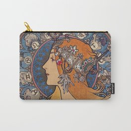 "Alfons mucha ,"" Zodiac "" Carry-All Pouch"