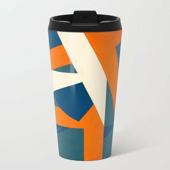 Geometric Solution Metal Travel Mug