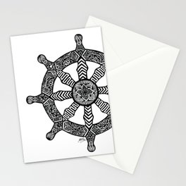 Zentangle - Dharma Wheel  Stationery Cards