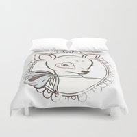 bambi Duvet Covers featuring BAMBI by TOO MANY GRAPHIX