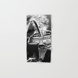 Black And White Basketball Art Hand & Bath Towel