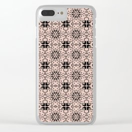 Pale Dogwood Star Geometric Clear iPhone Case