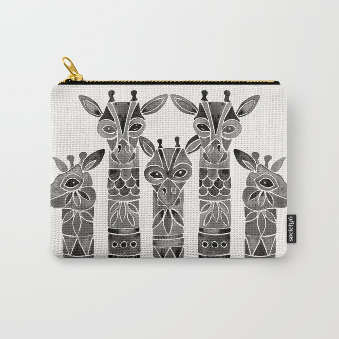 Black Giraffes Carry-All Pouch