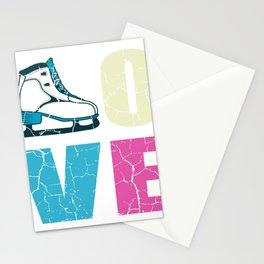 Ice Skating Love Ice Skater Figure Skater Gift Stationery Cards