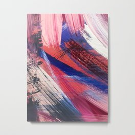 Los Angeles: A vibrant, abstract piece in reds and blues by Alyssa Hamilton Art Metal Print