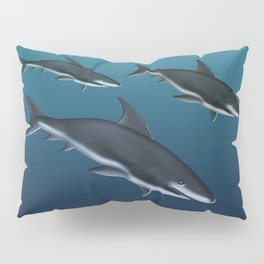 Three Sharks Dive Deep Pillow Sham