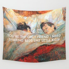 Sharing Beds Wall Tapestry