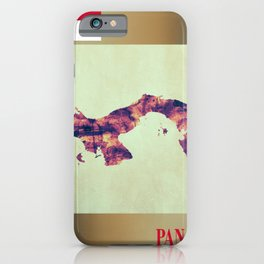 Panama Map with Flag iPhone Case
