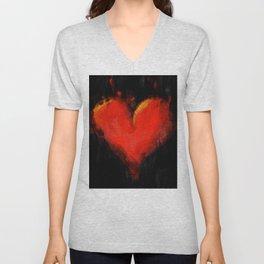 Grunge Heart Unisex V-Neck