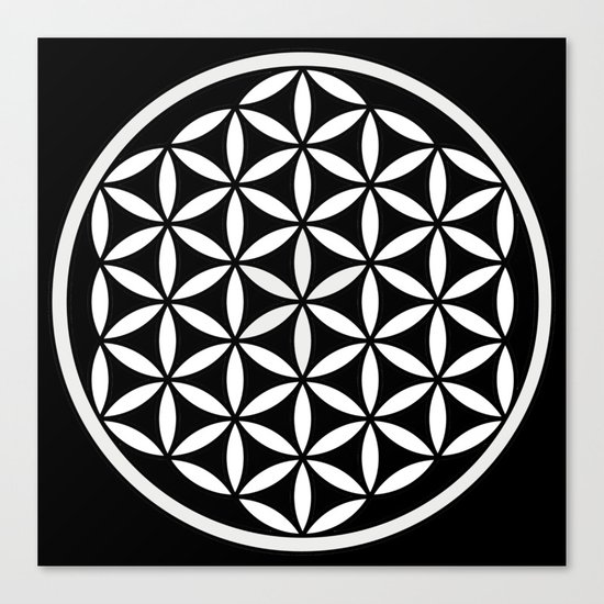 Flower of Life Yin Yang Canvas Print