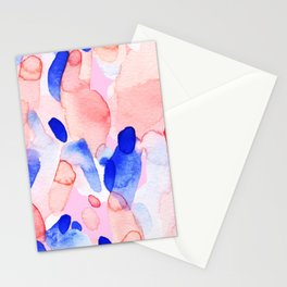 Abstract brushstrokes modern color collage Stationery Cards