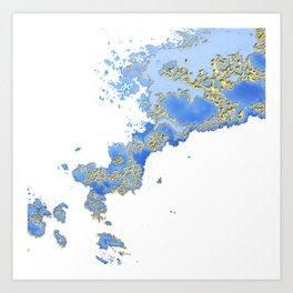 Ray of sky Art Print