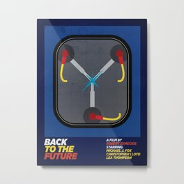 MINIMAL MOVIES 01 / BACK TO THE FUTURE Metal Print