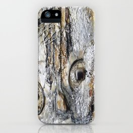 Metallic Melodrama II - Mixed Media Beeswax Encaustic Acrylic Abstract Modern Fine Art, 2015 iPhone Case