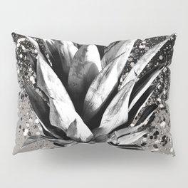 Pineapple Silver Gray Glitter Glam #1 #tropical #fruit #decor #art #society6 Pillow Sham