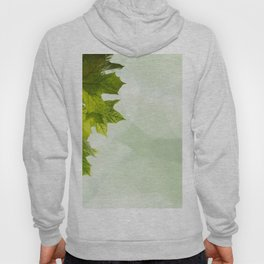 Green leaves frame Hoody