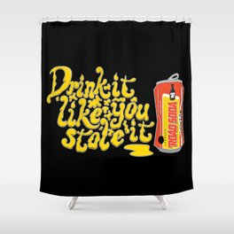 Road Soda Shower Curtain