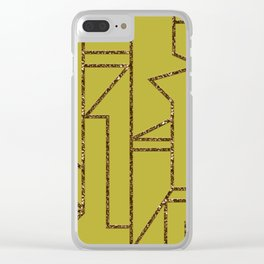 Ladders B (yellow) Clear iPhone Case