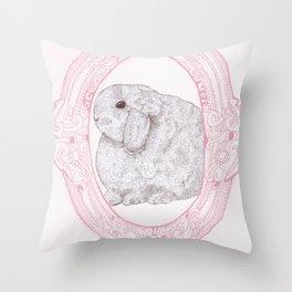 Cameo Bunny Throw Pillow