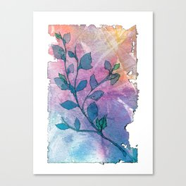 Watercolor Leaves II Canvas Print