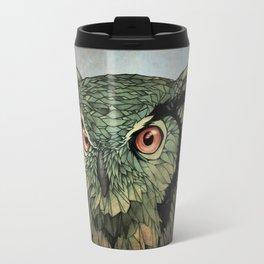 Owl - Red Eyes Travel Mug