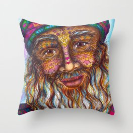 Wisdom Keeper Color #25 (Universal Love) Throw Pillow