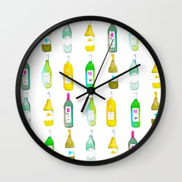 White Wine Watercolour Wall Clock