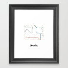 Highways of the USA – Wyoming Framed Art Print