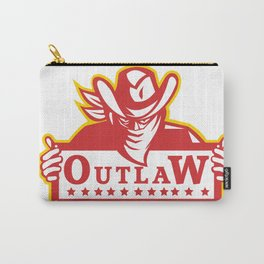Outlaw Holding Sign Retro Carry-All Pouch