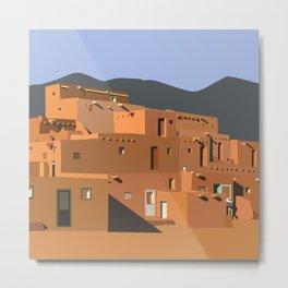 Mexico Taos Pueblo Metal Print