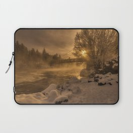 Frosty Riverside Laptop Sleeve