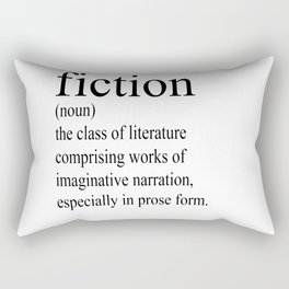 Fiction Definition (Black on White) Rectangular Pillow