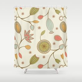 Mehndi Flower Shower Curtain