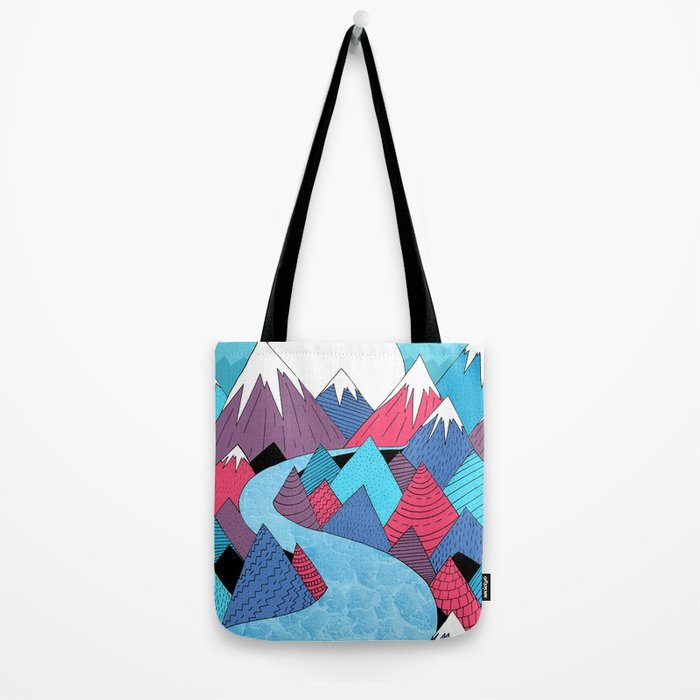 Blue Sky River Tote Bag