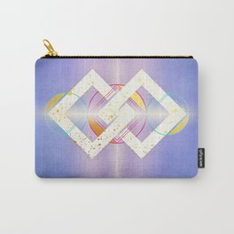 Linked Lilac Diamonds :: Floating Geometry Carry-All Pouch