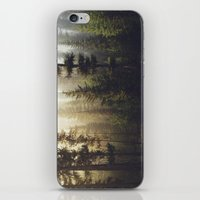 dude iPhone & iPod Skins featuring Sunrise Forest by Kevin Russ