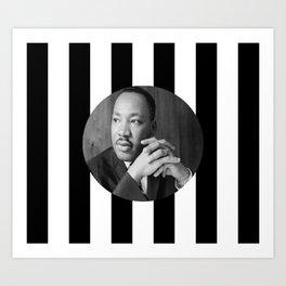 Martin Luther king art work Art Print
