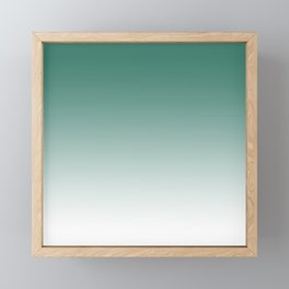 Ombre Viridian Framed Mini Art Print