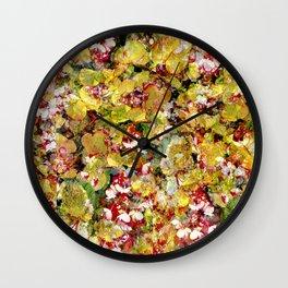 Popping Petals Pattern Wall Clock