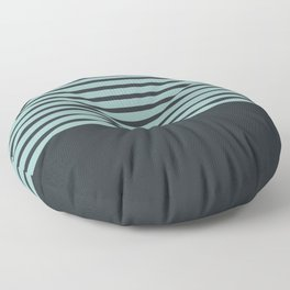 Navy stripes on turquoise Floor Pillow