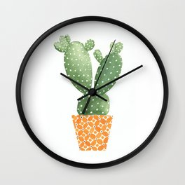 Cactus Best Friends - Prickly Pear Wall Clock