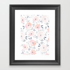 pink watercolors Framed Art Print