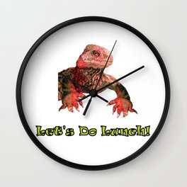 Let's Do Lunch Wall Clock
