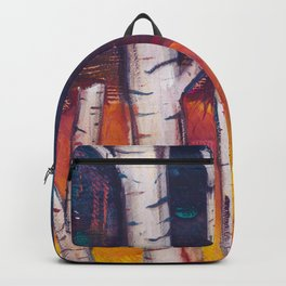 Birch Trees at Dusk Backpack