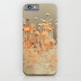Mustard Yellow Flowers iPhone Case