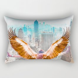 New York Icarus Watercolor Rectangular Pillow